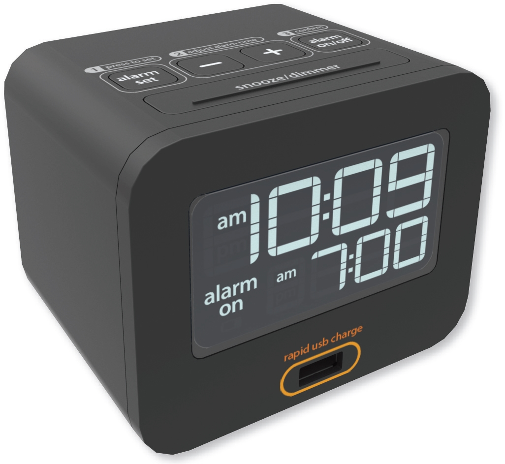 iHome HT160be charging lcd alarm clock